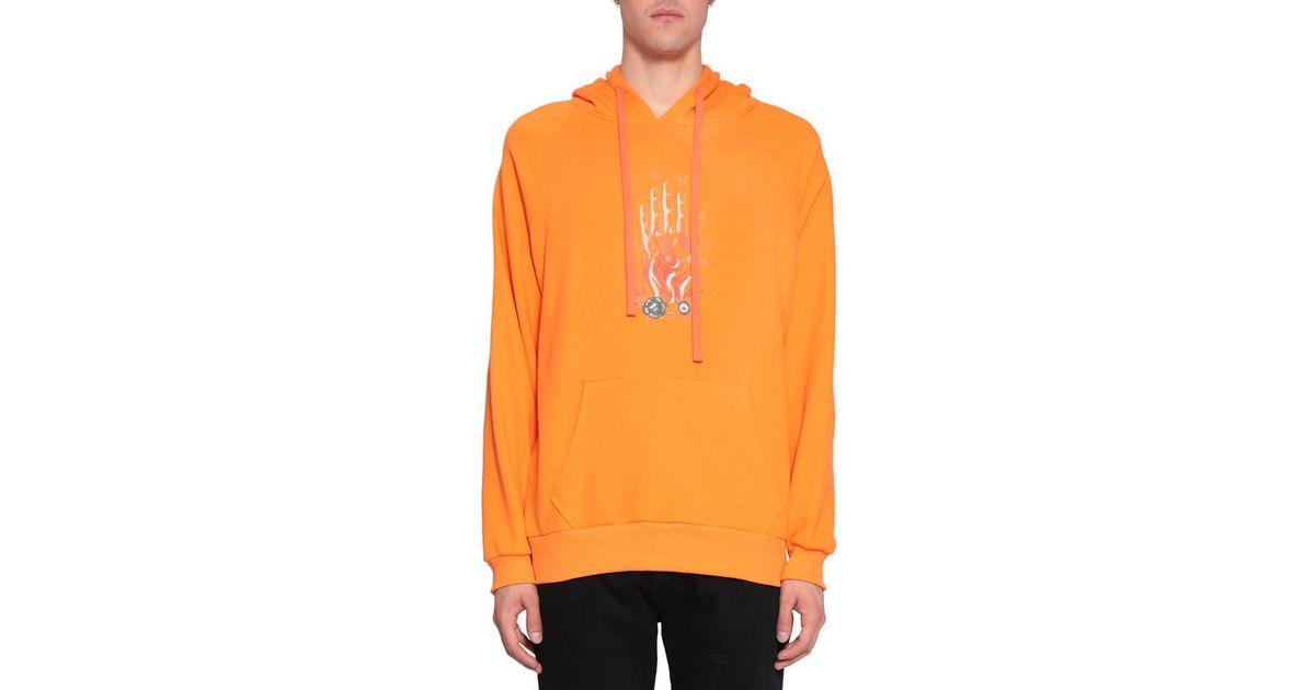 06ab3007b3b Lyst - Amen Embroidered Cotton Hoodie in Orange for Men