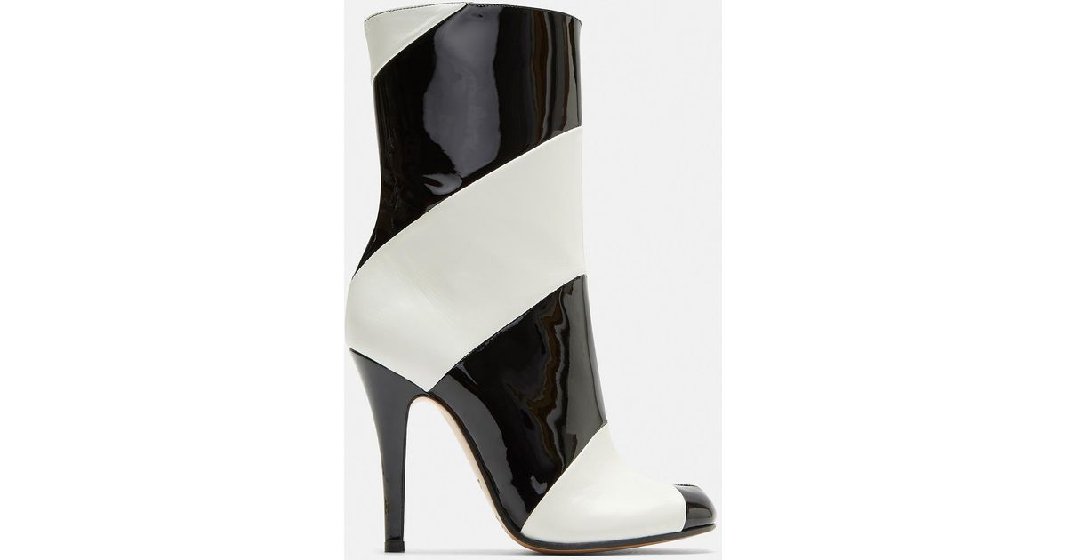 Tabi Striped Stiletto Ankle Boots Maison Martin Margiela UUFTlSwsT
