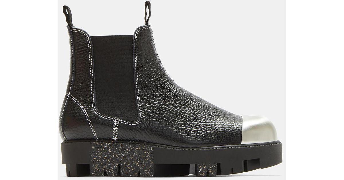 Acne Tillay Metal Cap Platform Ankle Boots
