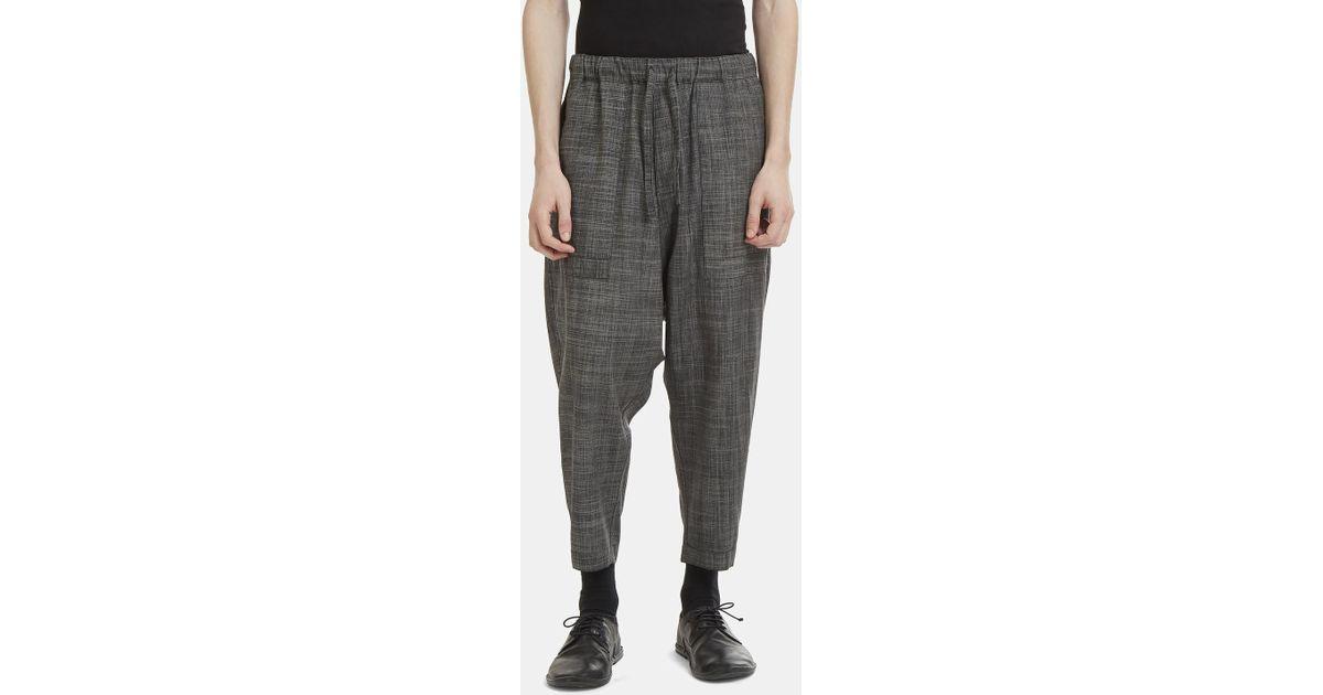 Reversible Dropped Crotch Slub Pants Issey Miyake C3lpqDCgE
