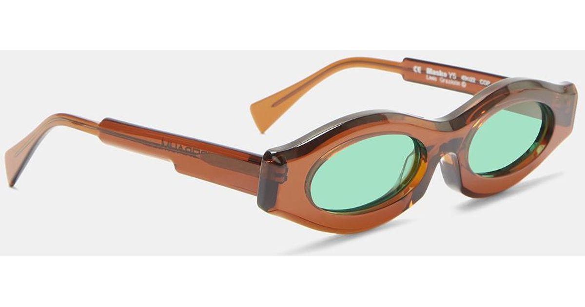 7f20c41fd89 Lyst - Kuboraum Mask Y5 Oval Sunglasses In Brown in Brown