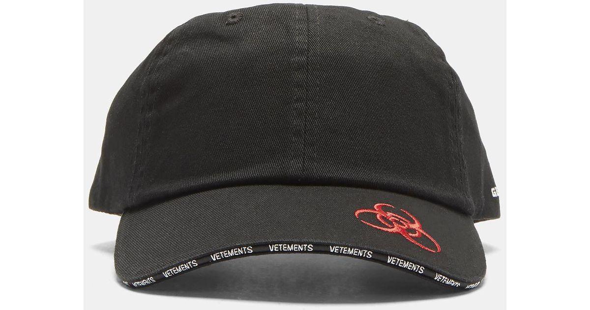 Vetements Genetically Modified Cap In Black in Black for Men - Lyst 31ff91b6ba4