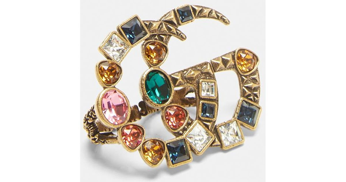Gucci Crystal Double G Multi-Finger Ring L8llmH8VQ3