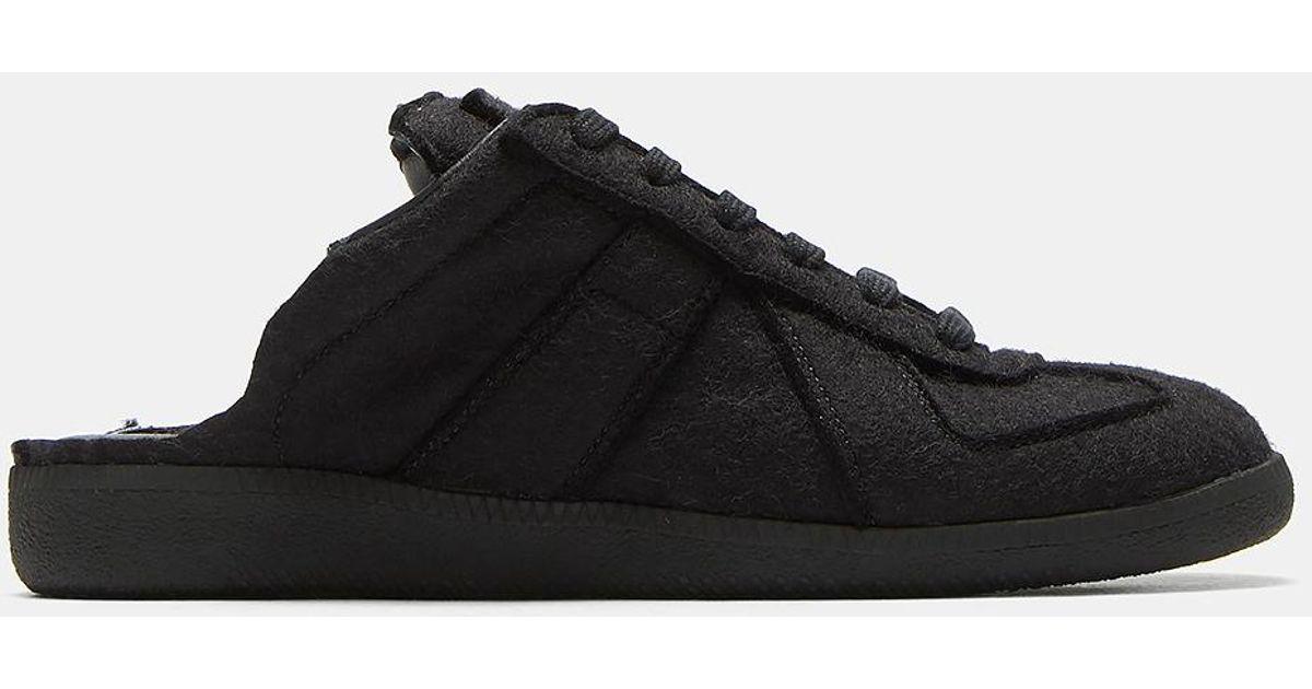 e667a0d741923 Maison Margiela Replica Mule Slip-on Sneakers In Black in Black for Men -  Lyst