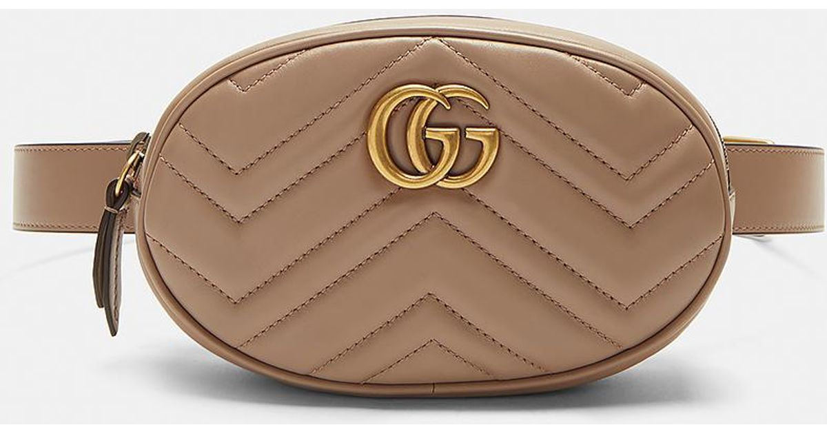 b7d61ab3adc4f8 Gucci Gg Mini Belt Bag In Brown in Brown - Lyst