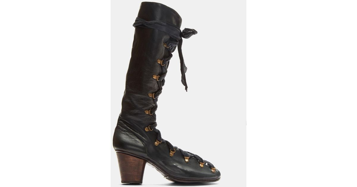 Lace-Up Open Leather Boots Atelier Inscrire Cheapest Online rmdzVDjY