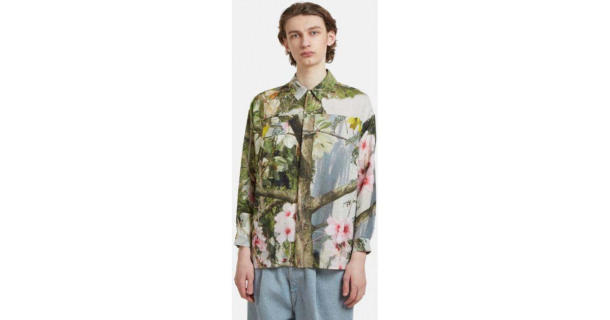Billig Rabatt Fabrikpreis Floral Print Step Hem Shirt Anntian Freies ...
