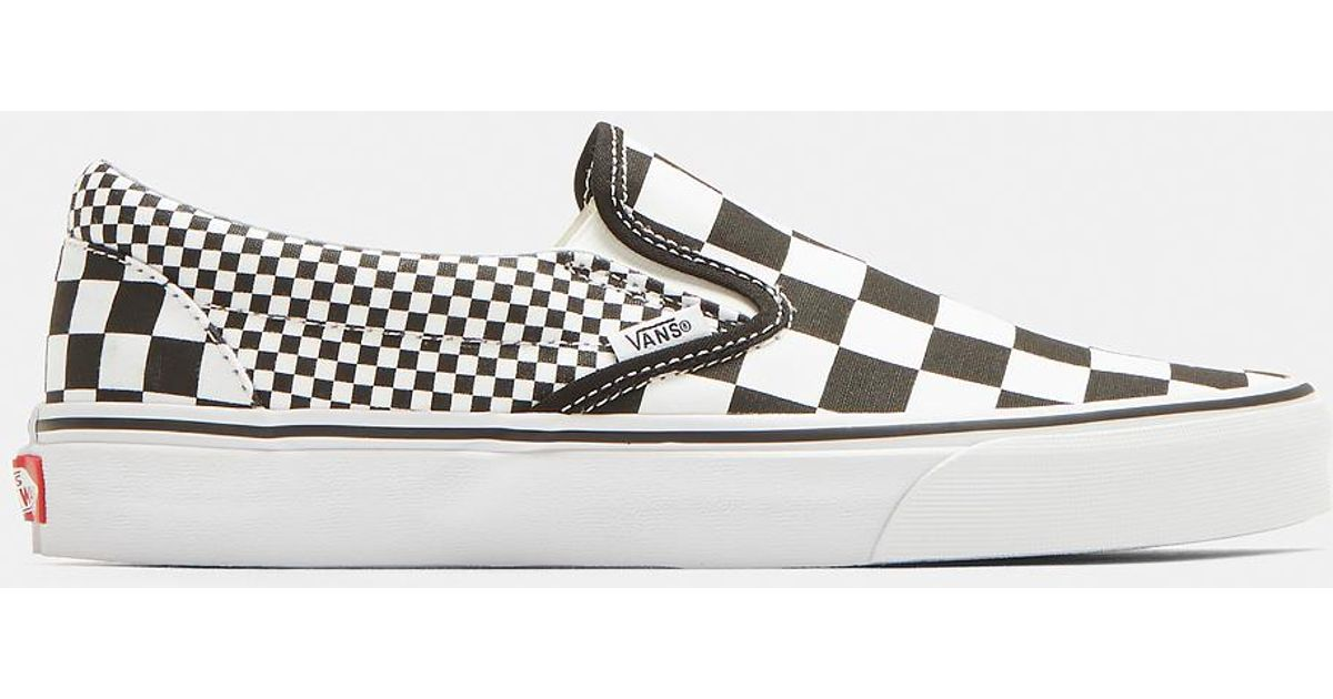 4141ff6af1 Vans Classic Slip-on Mix Checkerboard Sneakers In Black And White in Black  - Lyst