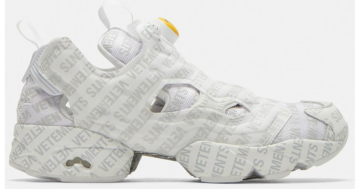 6867c86a3d9e Vetements X Reebok Emoji Instapump Fury Sneakers In White in White - Lyst
