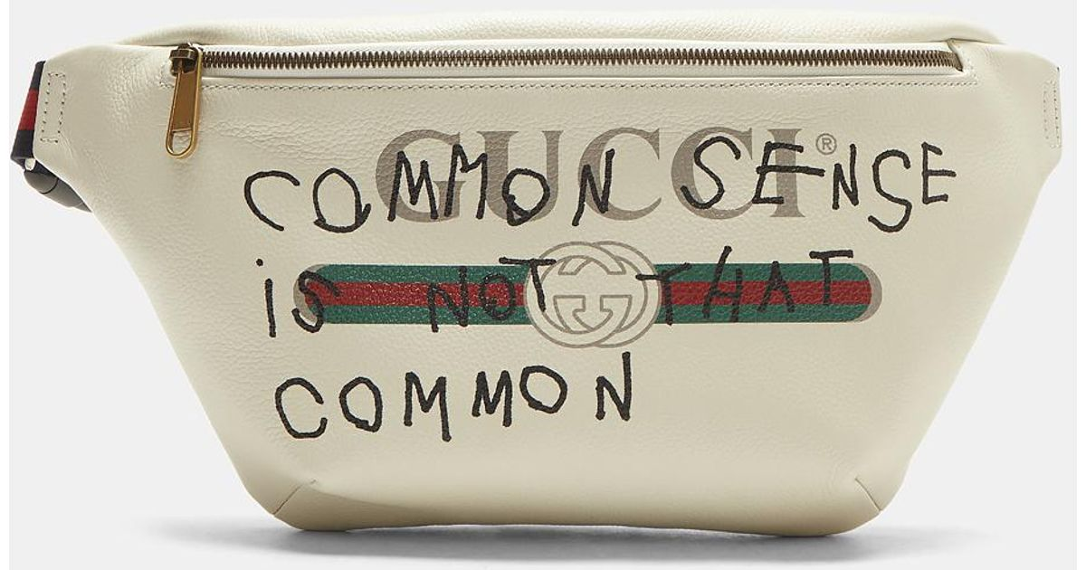 bbeb6051657c Gucci Coco Capitán Print Leather Belt Bag In White in White - Lyst
