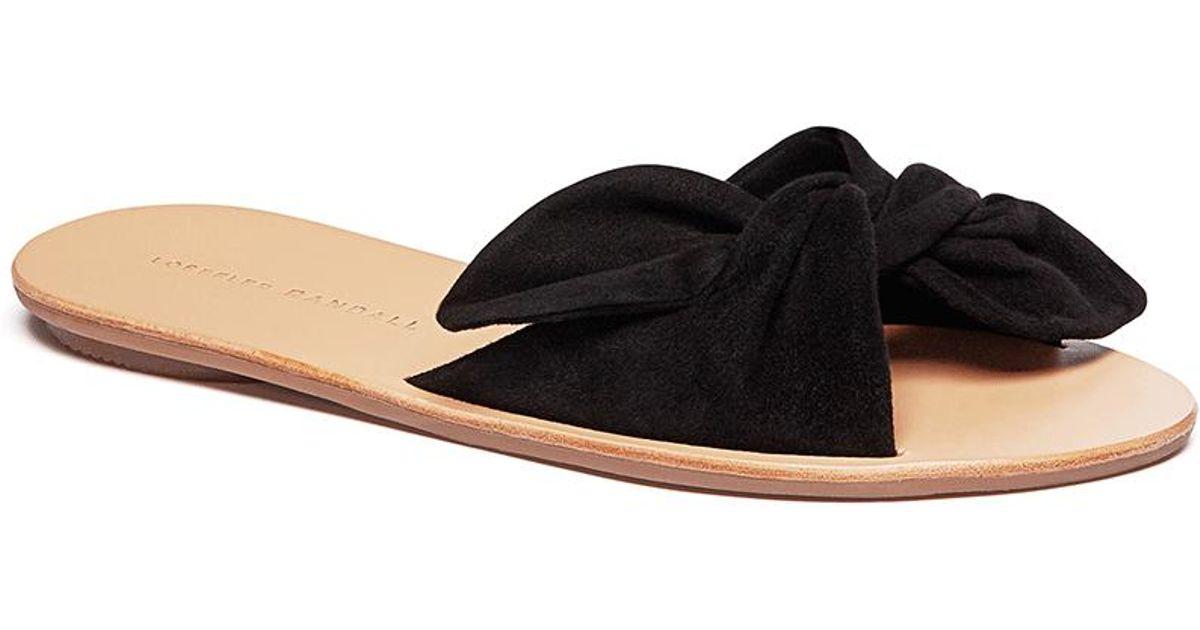 60c47ade272 Lyst - Loeffler Randall Phoebe Knotted Sandal Slide (black Kid Suede)  Women s Slide Shoes in Black