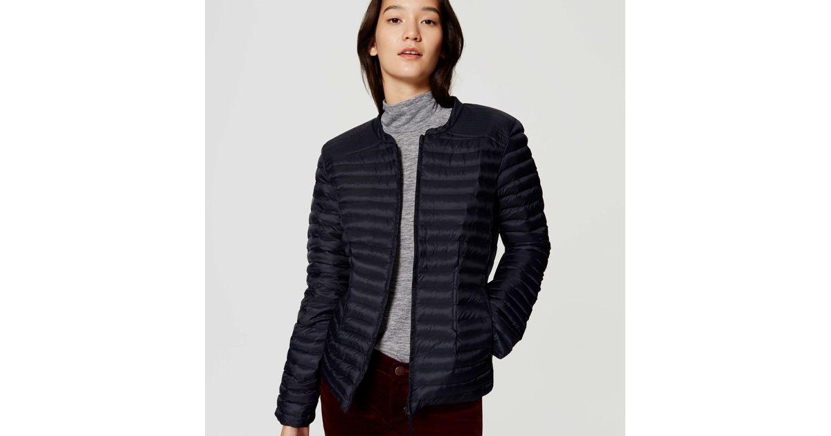 de0e5b675 LOFT - Blue Petite Pintucked Puffer Jacket - Lyst