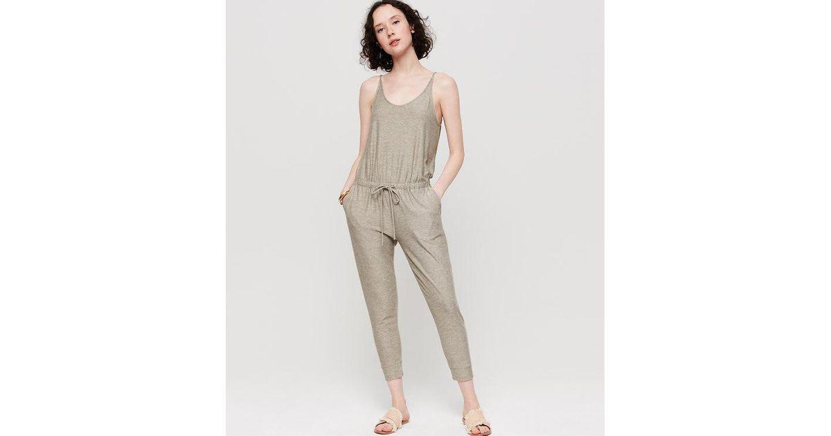 a6276372f6d Lyst - Loft Lou   Grey Marlknit Jumpsuit in Gray