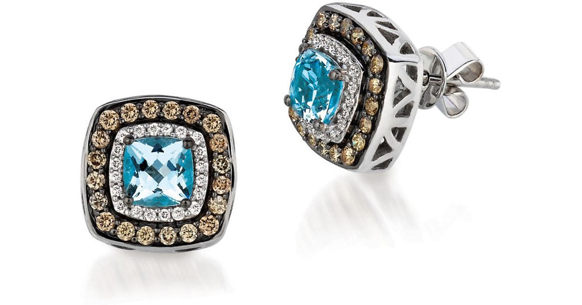 le vian and aquamarine chocolatier earrings 0 51