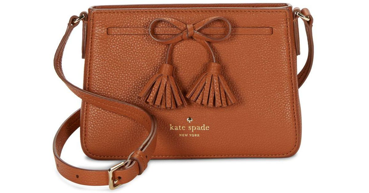 2019 best new authentic enjoy cheap price Kate Spade Brown Hayes Street Eniko Leather Crossbody Bag