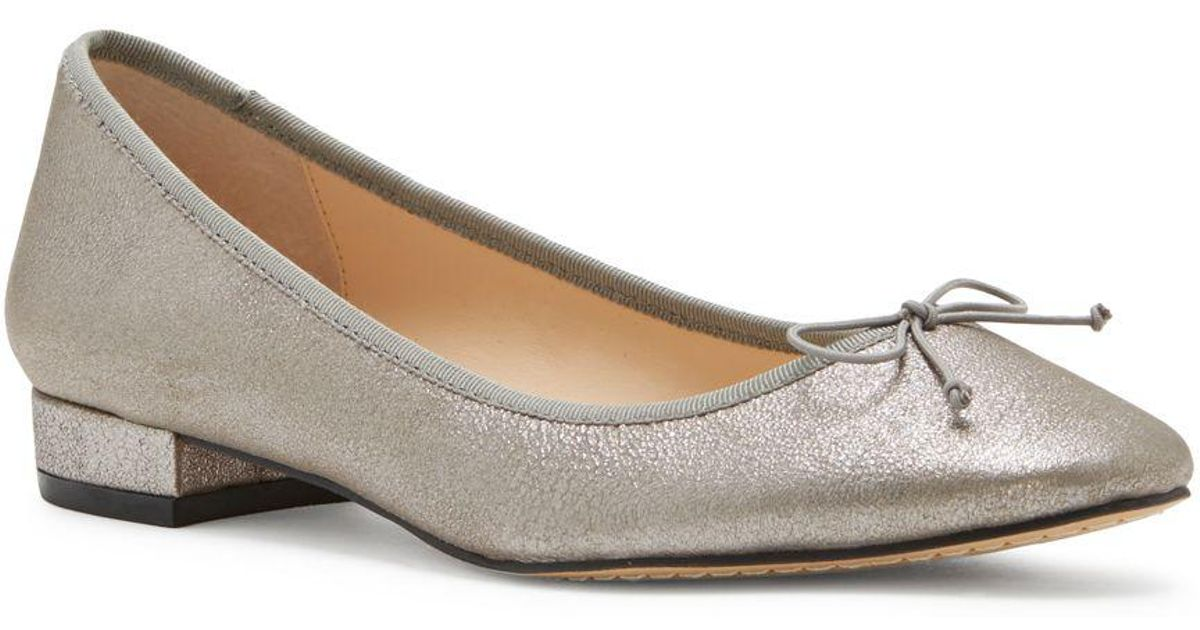 af4b2be3a13b1 Lyst - Vince Camuto Adema Leather Slip-on Ballet Flats