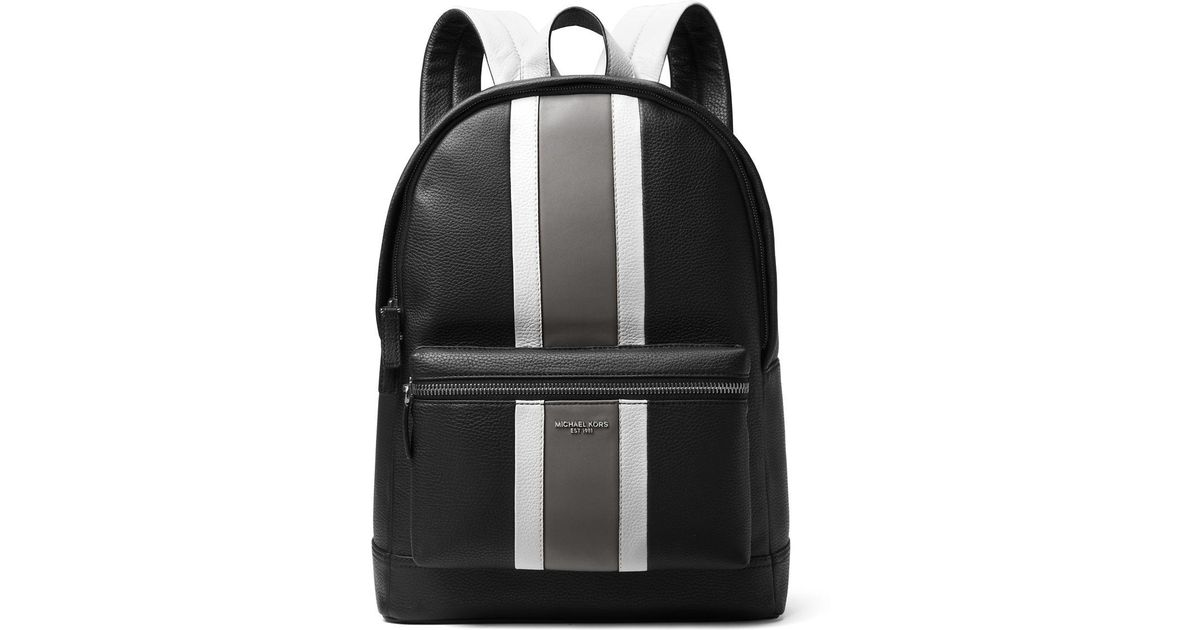 d12c7217143c Michael Kors Bryant Leather Backpack in Black for Men - Lyst