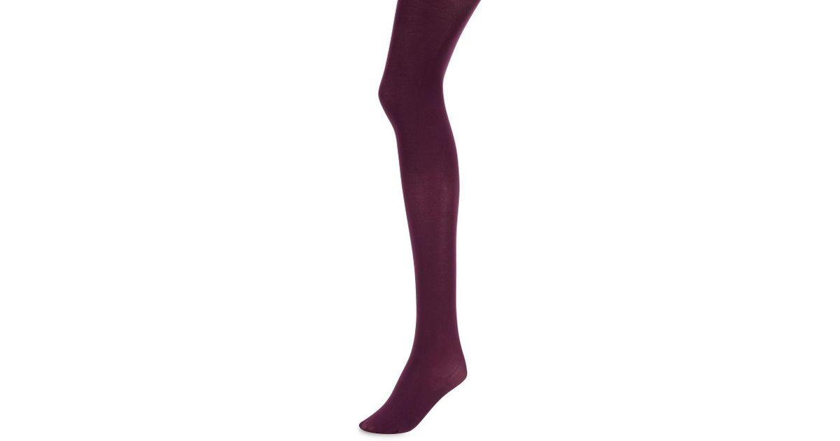 625dcff8564 Hanes X-temp® Opaque Control Top Tights in Purple - Lyst