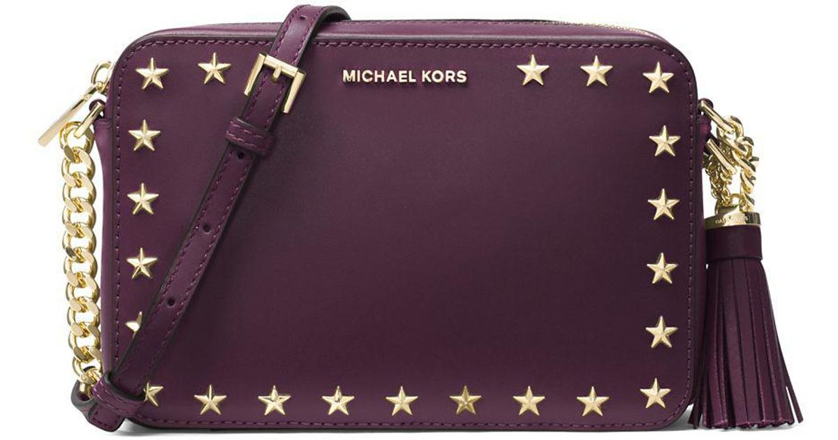 d46db3d8367a MICHAEL Michael Kors Ginny Leather Camera Bag in Purple - Lyst