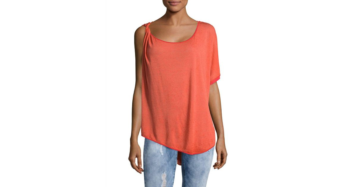 1c6a69f3885d1a Free People Pluto One-shoulder Top in Orange - Lyst