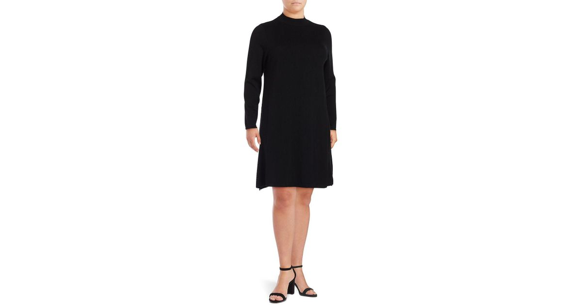 Lyst Lord Taylor Plus Mockneck Dress In Black