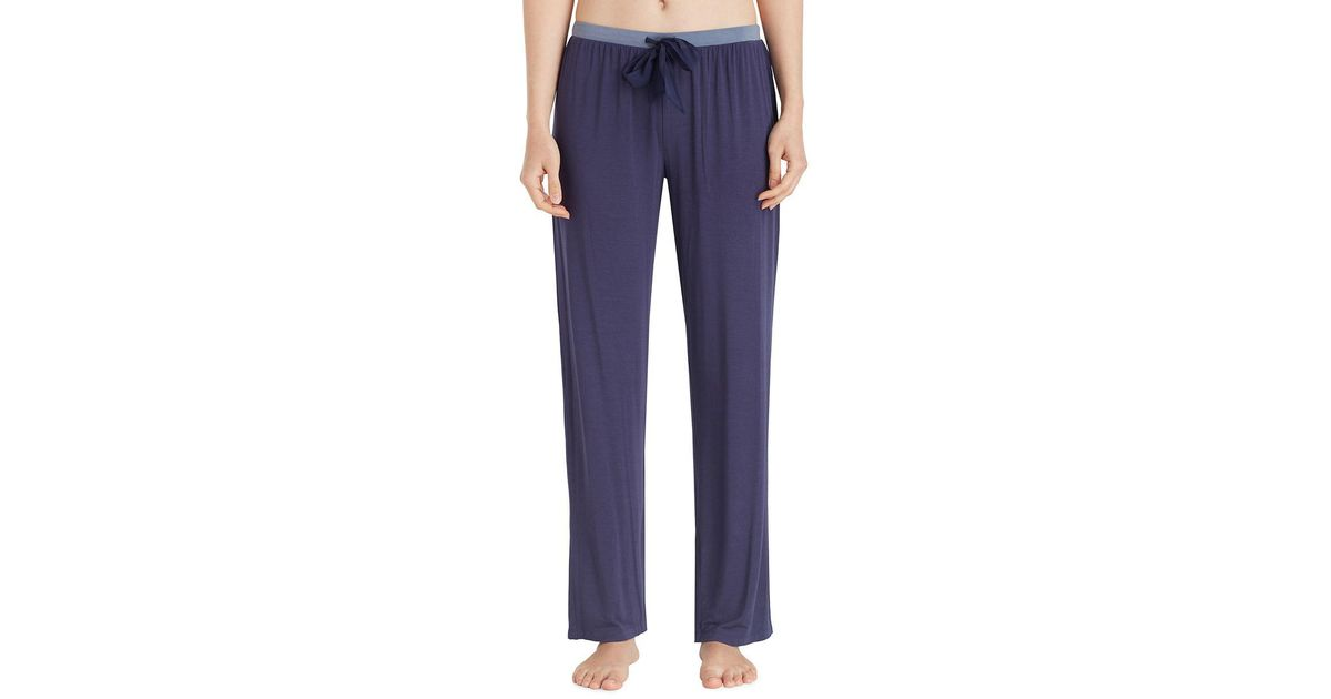 9e4a34fb4c Lyst - Dkny Two-toned Jersey Pajama Pants in Blue