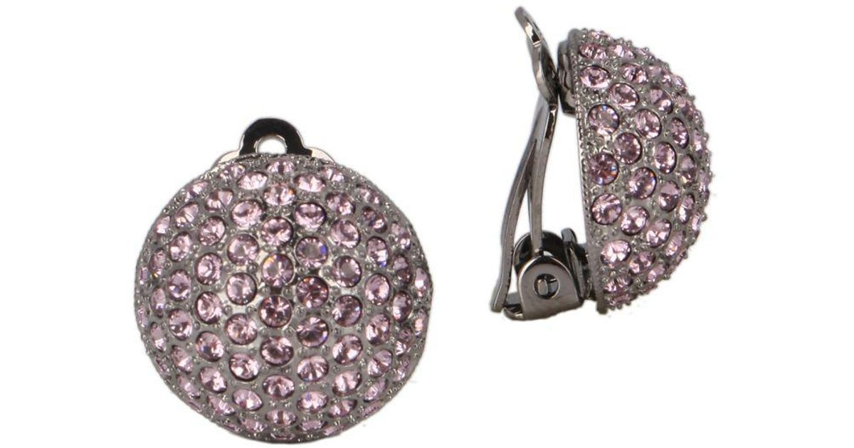 f40671d9a Nina E-aliona Swarovski Crystal Clip-on Earrings in Metallic - Lyst