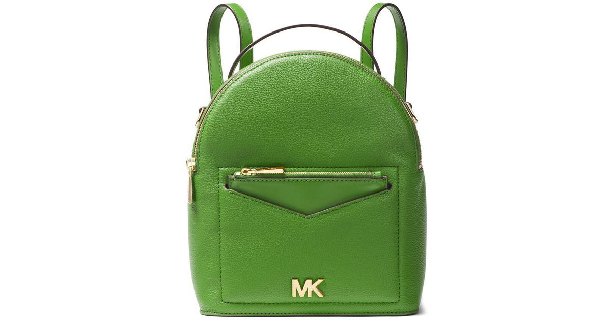 9b726f73ce Michael Michael Kors Jessa Small Pebbled Leather Convertible Backpack in  Green - Lyst