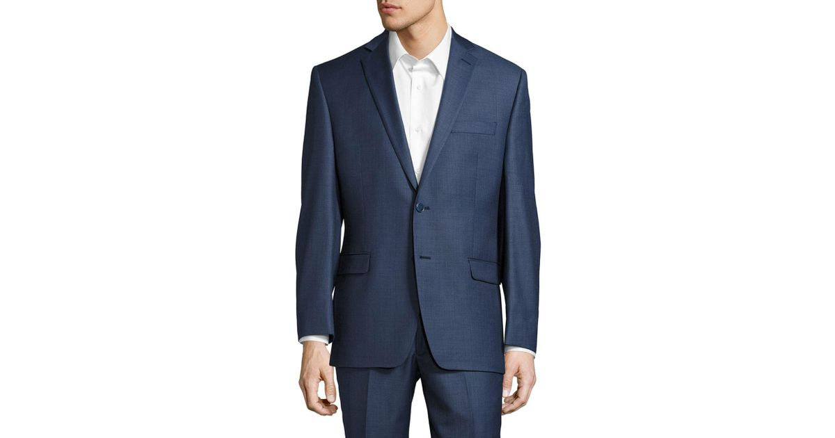 1fce03006 Calvin Klein Blue Solid Classic-fit Suit Separate Jacket for men