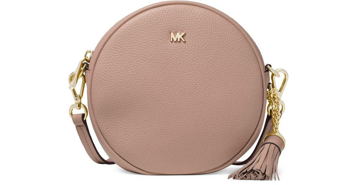 0d4681c400450f MICHAEL Michael Kors Canteen Leather Circle Crossbody Bag in Brown - Lyst