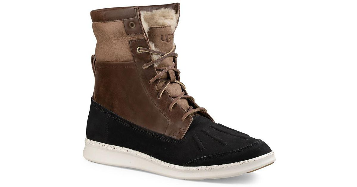 UGG Fillmore Roskoe Leather & Suede Wool Lined Boots Ziu1S2FZeG