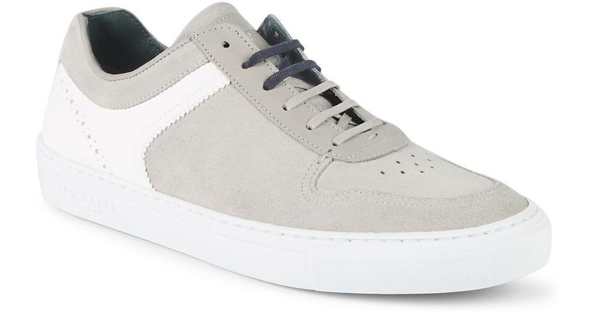 11d4e95a69ac3 Ted Baker - White Burall Contrast Sneakers for Men - Lyst