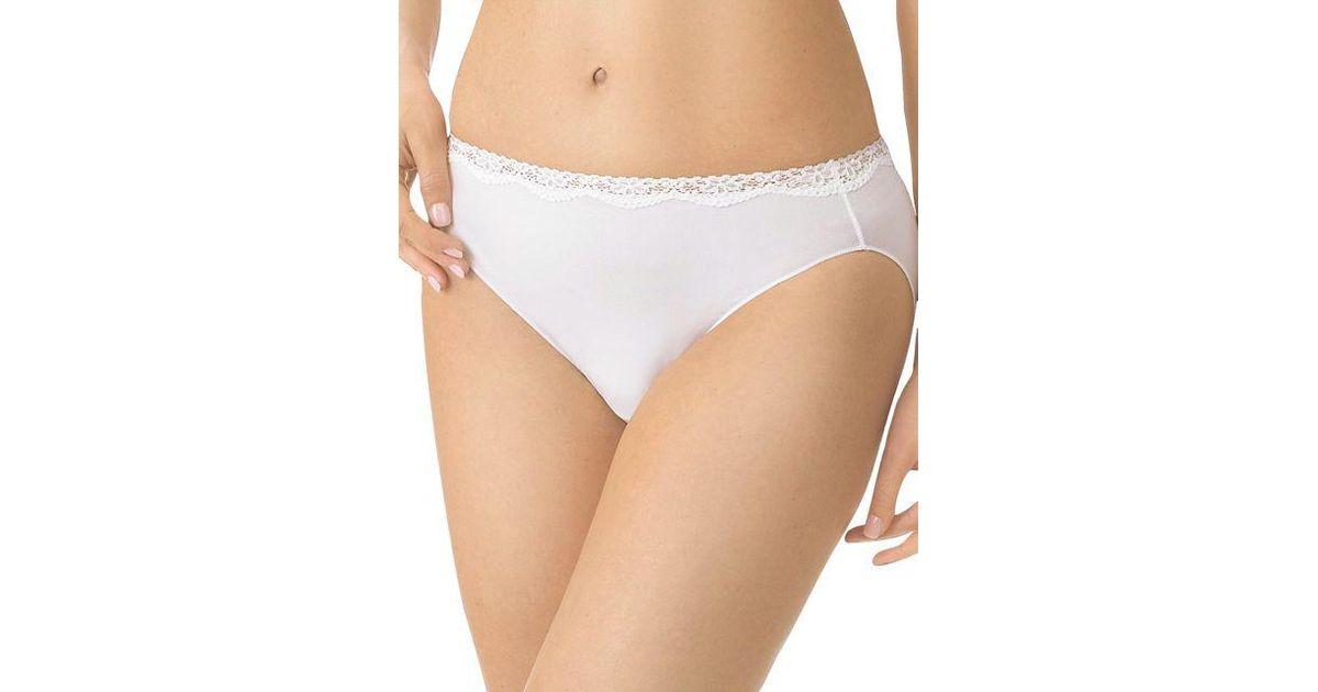 e0fc9dcbf864 Jockey No Panty Line Promise Tactel Lace Bikini in White - Lyst