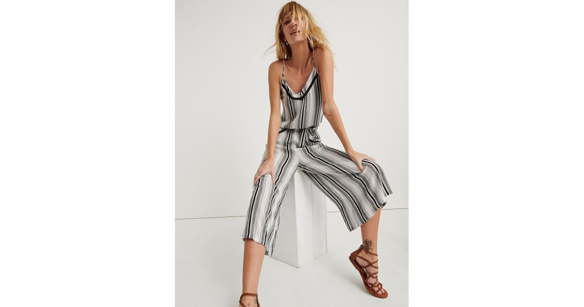 6541fd890ba Lyst - Lucky Brand Venice Vibes Jumpsuit in Black
