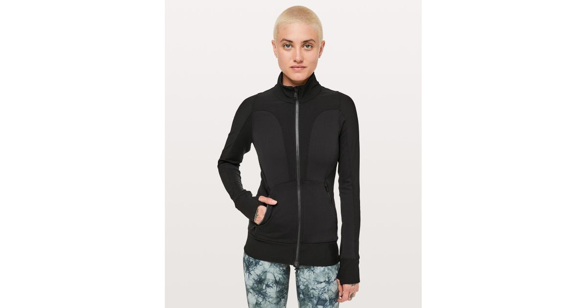 bc0a257e64 Lyst - lululemon athletica Movement To Movement Jacket in Black