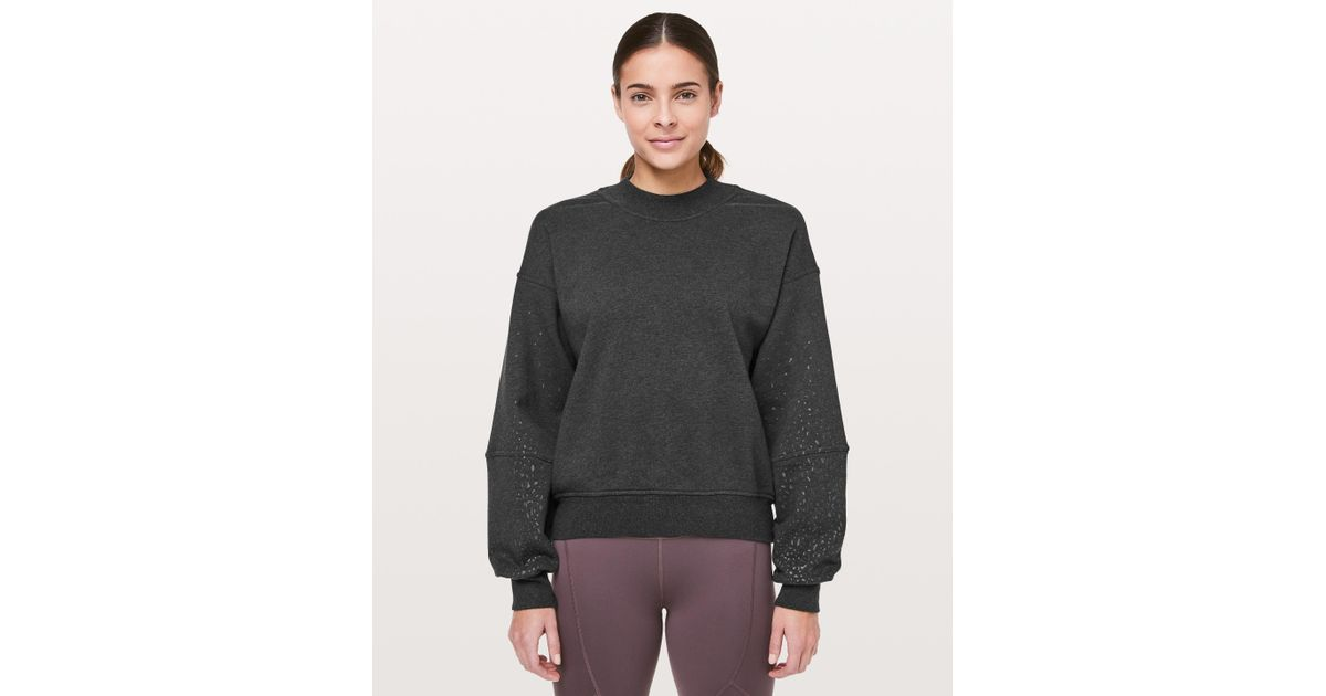 da5c60b8 Lyst - lululemon athletica To The Beat Sweatshirt * X Soulcycle in Black