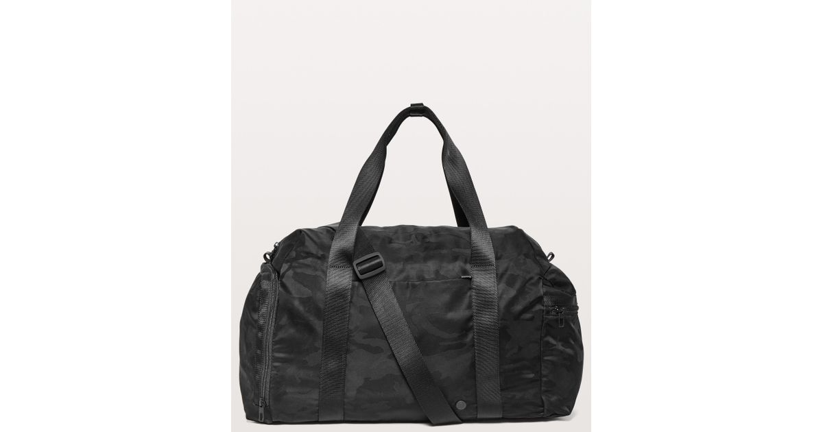 Lyst - lululemon athletica Command The Day Duffel  37l in Black for Men 27557bf9b3f11
