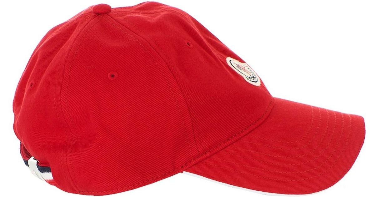 1eaf2ce5a55 Lyst - Moncler Cappellino Baseball Rosso in Red for Men