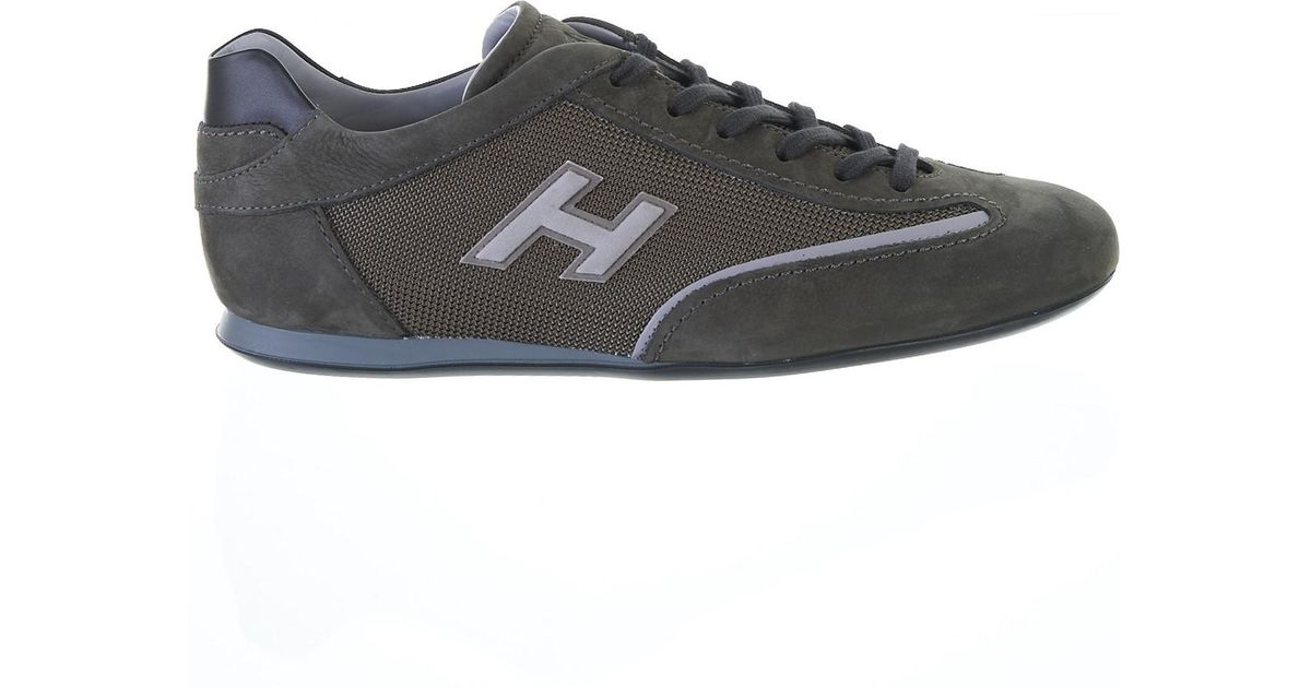 157ebbddc49 Hogan Green And Grey Olympia Sneakers in Green for Men - Lyst