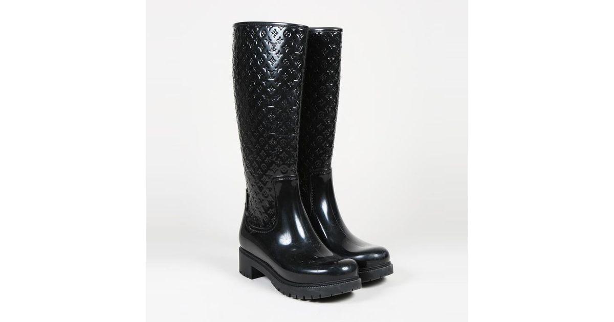 7c8a85fb6320 Louis Vuitton Black Rubber