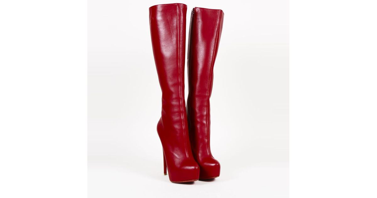 340963c13b7 Lyst - Christian Louboutin Red Leather