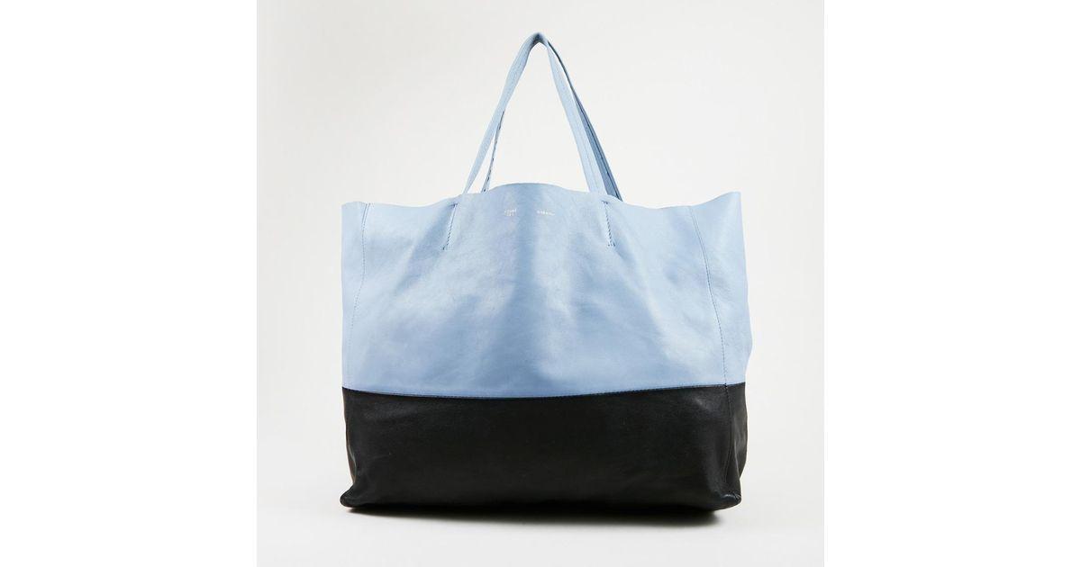 46dfa21ddf Lyst - Céline Blue Black Lambskin Leather