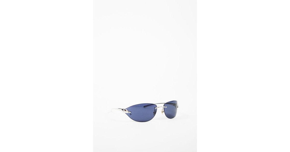 d28a7bcc6ab Lyst - Cartier Silver Tone Blue