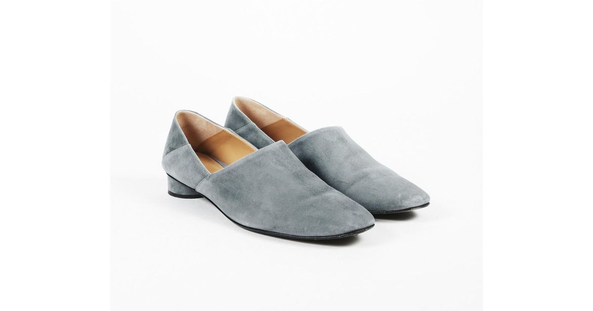 8fed8f5279b Lyst - The Row Blue Suede