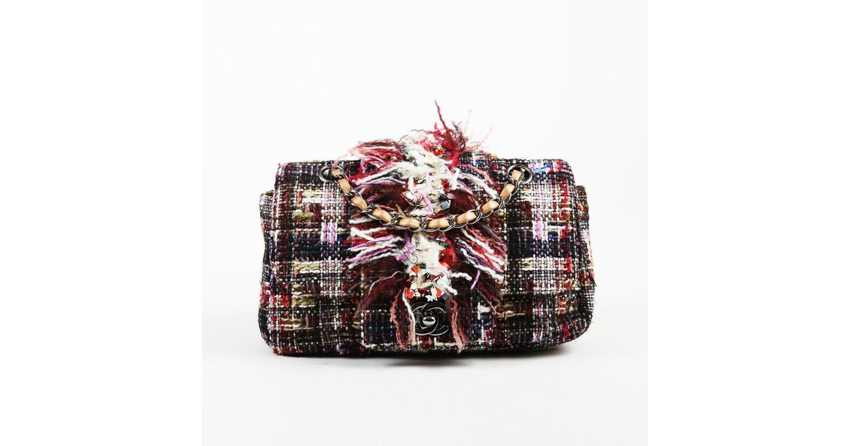 Lyst - Chanel Multicolor Tweed Embellished