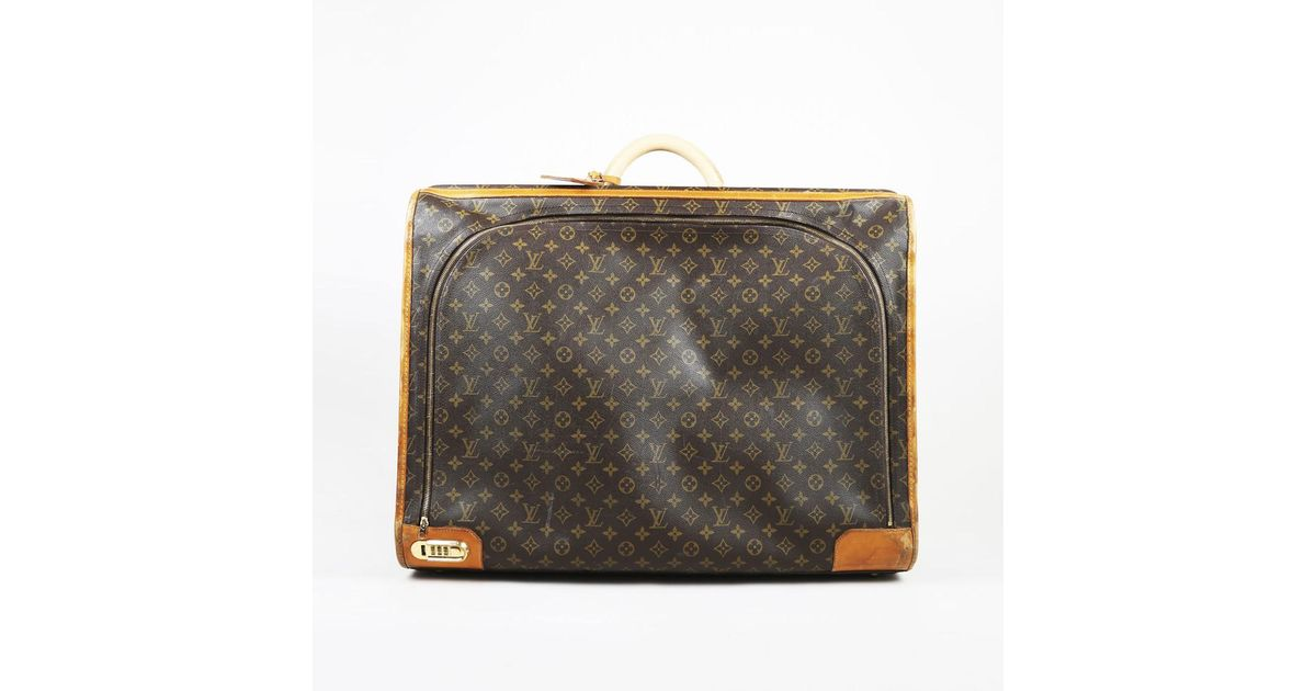 39456ee906d2 Lyst - Louis Vuitton Vintage Brown Monogram Coated Canvas