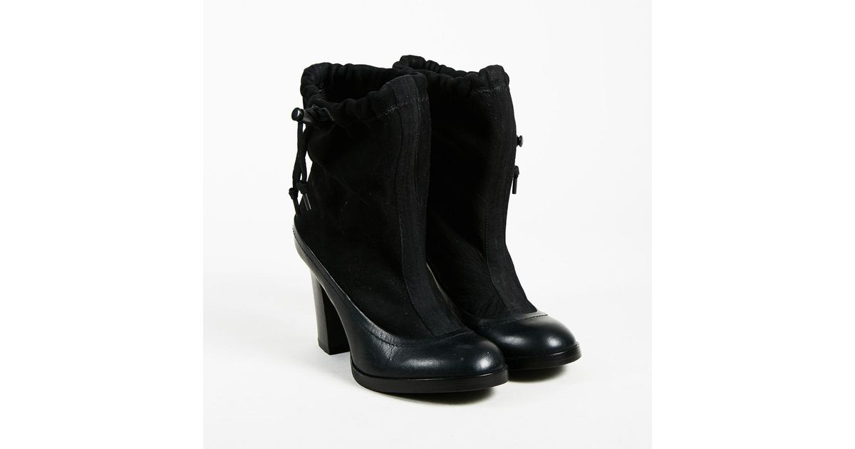 7c77b708c3bfec Lyst - Rag   Bone Black Suede   Leather High Heel Holt Ankle Boots in Black