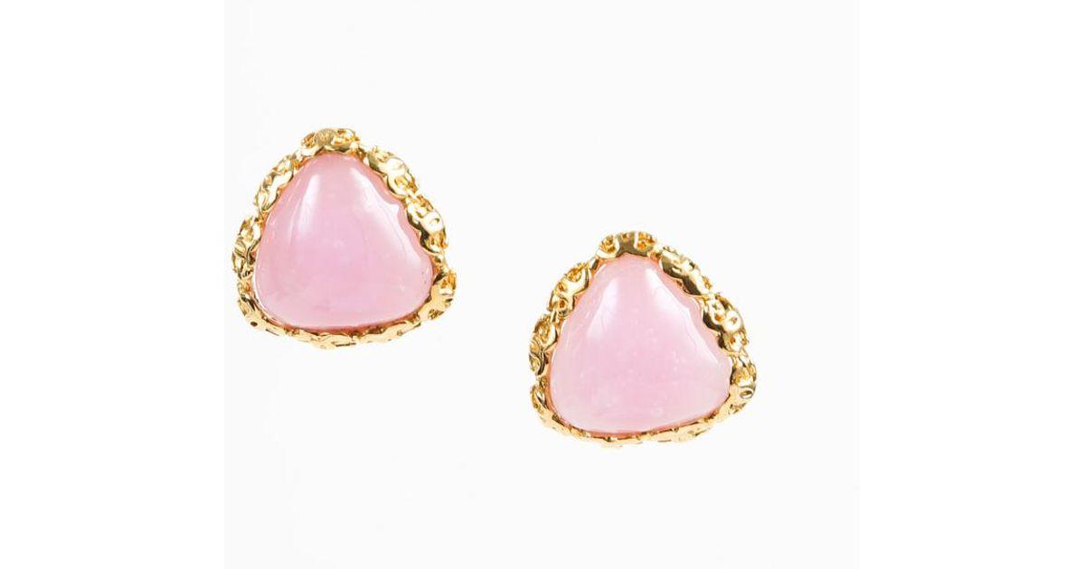 1741b3e4c1e450 Chanel Pre-owned Earrings in Pink - Lyst