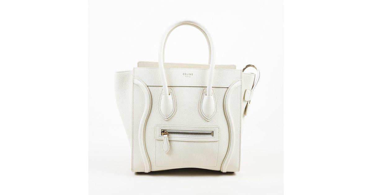 981a3b6f698e Lyst - Céline White Leather