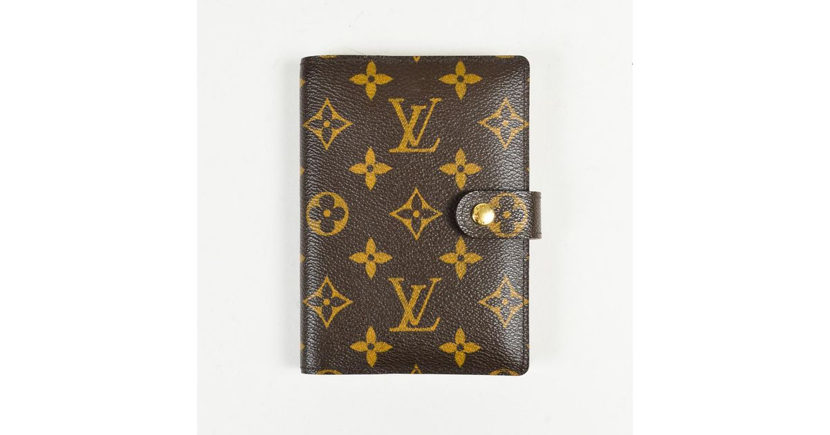 e95bfed7c2a5 Lyst - Louis Vuitton  365 Brown Monogram Coated Canvas Small Ring Agenda  Cover in Brown